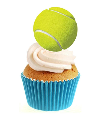 Tennis Ball Stand Up Cake Toppers (12 pack)