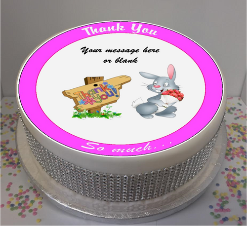 Personalised Thank You Bunny 8