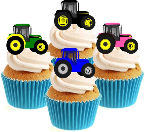 Tractor Collection Stand Up Cake Toppers (12 pack)