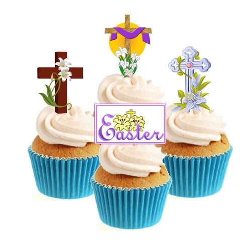 Traditional Easter Collection Stand Up Cake Toppers (12 pack)