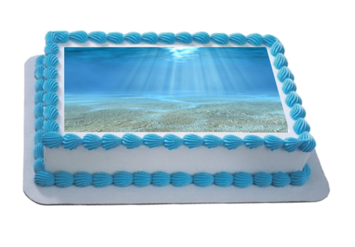 Underwater Scene A4 Themed Icing Sheet