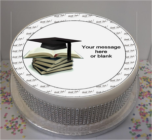 "Personalised Good Luck University 8"" Icing Sheet Cake Topper"