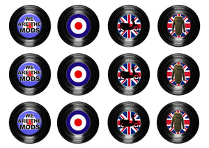 "We Are The Mods Collection 2"" icing discs"