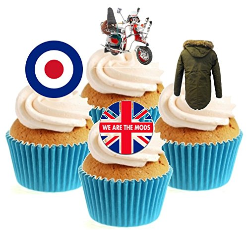 We Are The Mods Collection Stand Up Cake Toppers (12 pack)