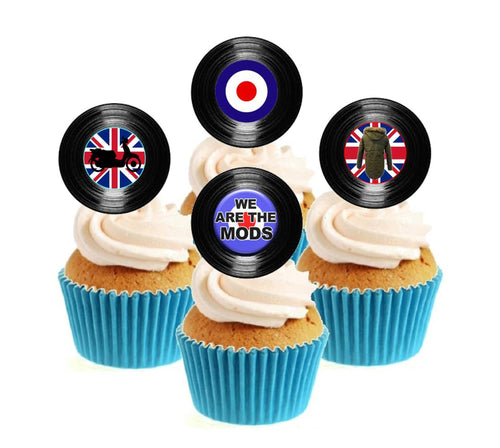 We Are The Mods Vinyl Collection Stand Up Cake Toppers (12 pack)