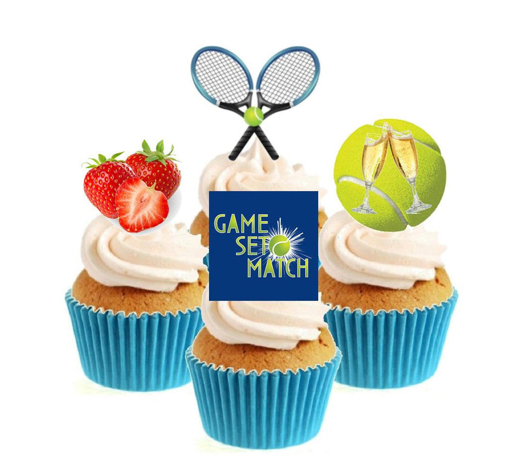 Wimbledon Collection Stand Up Cake Toppers (12 pack)