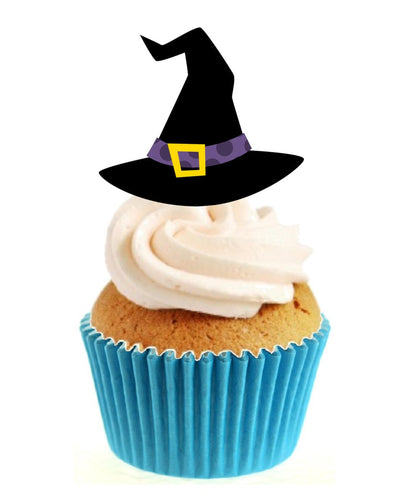 Witches Hat Stand Up Cake Toppers (12 pack)
