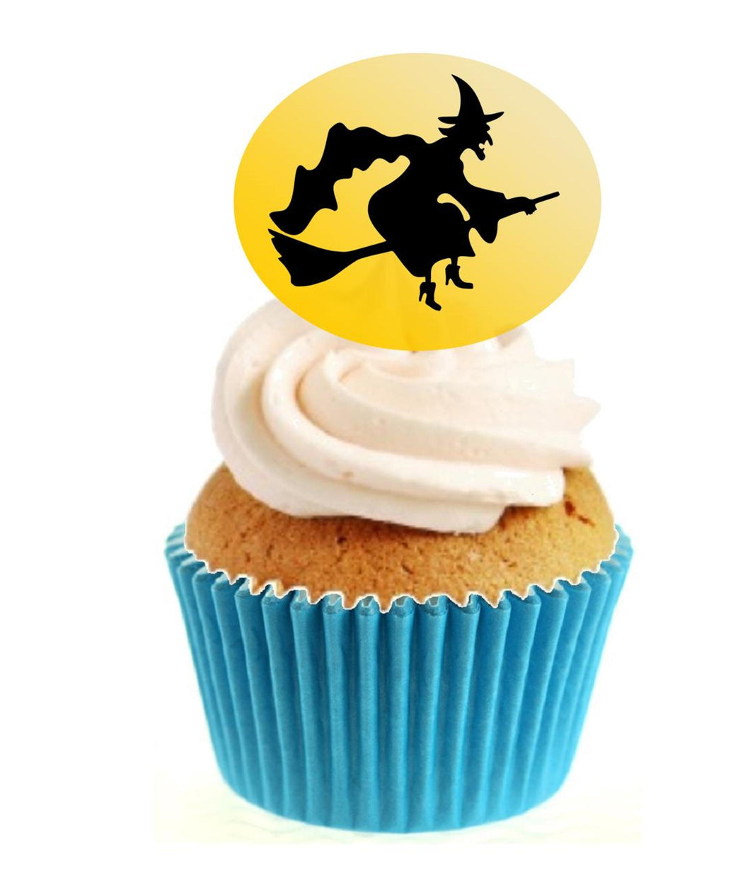 Witch Silhouette (C) Stand Up Cake Toppers (12 pack)