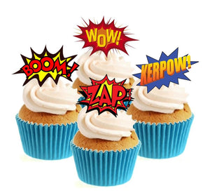 Wow Superhero Collection Stand Up Cake Toppers (12 pack)