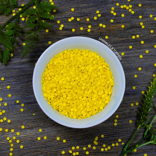 4mm Yellow Glimmer Confetti 100g