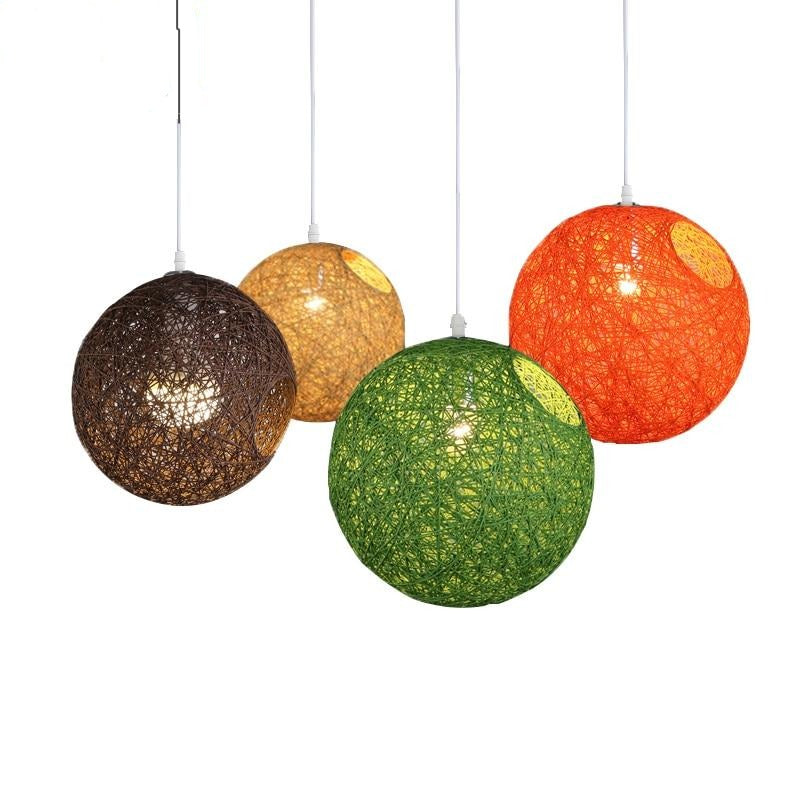 Suspension Industrielle Osier Coloris | Lustre Shop