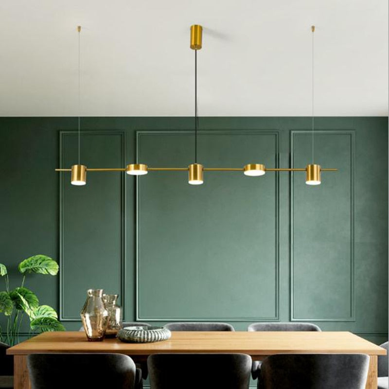 Suspension Industrielle Or 5 Lampes | Lustre Shop