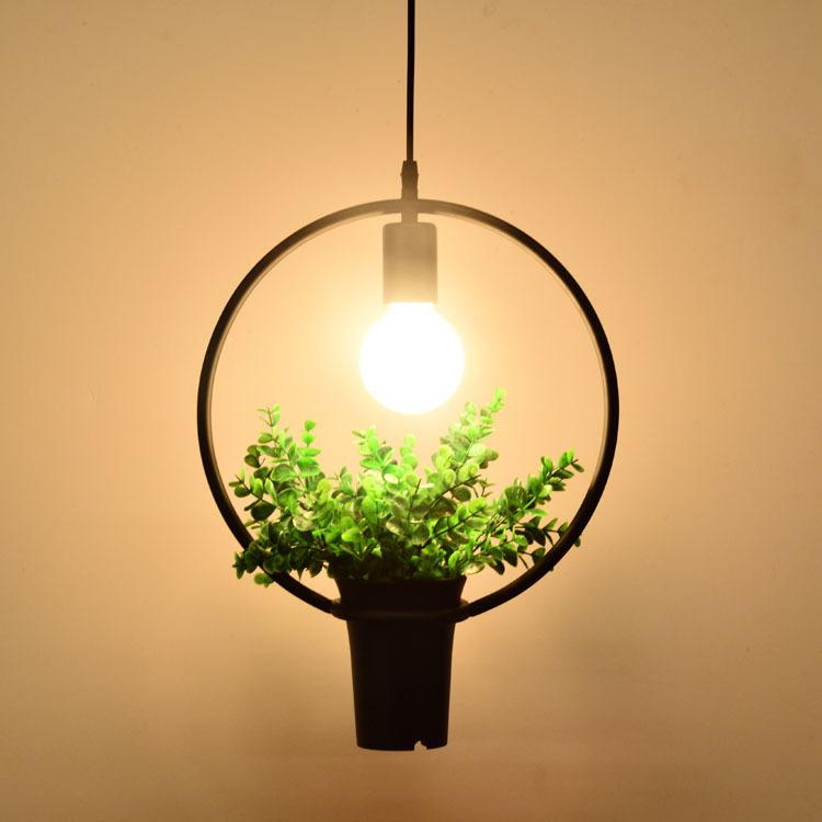 Suspension Industrielle Noire Plante Verte | Lustre Shop