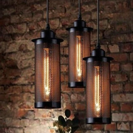 Suspension Industrielle Vintage Sombre | Lustre Shop