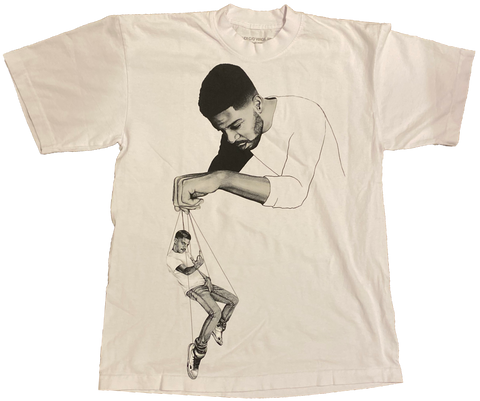 "Kid Cudi X Off White ""Pulling Strings"" T-shirt - (Small) - Kickstasy Hypebeast Clothing and Sneakers"