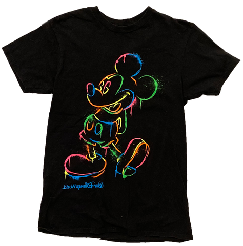 Vintage Neon Mickey Mouse T-shirt - (Small) - Kickstasy Hypebeast Clothing and Sneakers