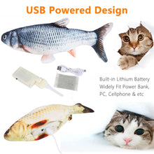 Load image into Gallery viewer, Electric Moving Dog & Cat Chewing Plush Toy (Fish Toy)