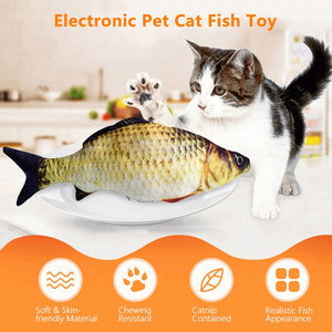 Electric Moving Dog & Cat Chewing Plush Toy (Fish Toy)