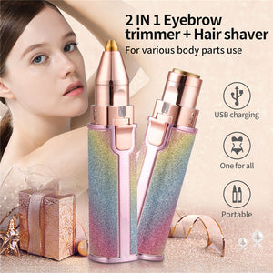 2 in 1 Eyebrow Trimmer
