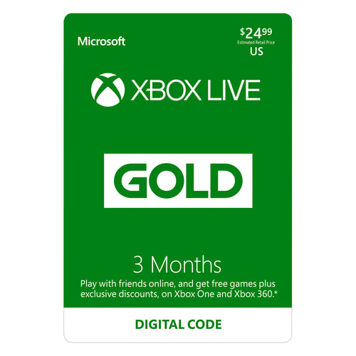 Xbox Live 3 Months Subscription - USA