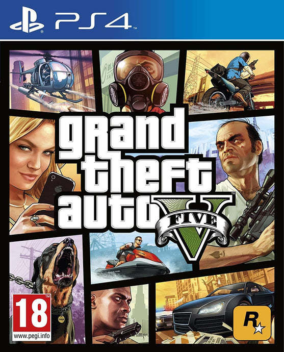 Grand Theft Auto 5 - PS4 - Playstation 4 - (Used) - GTA 5