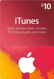 $10 Apple iTunes Card - USA