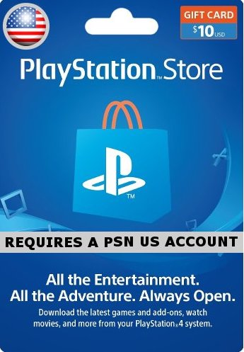 $10 PSN Card - USA