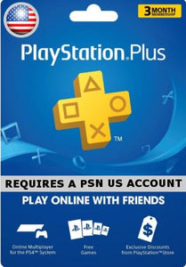PS Plus 3 Months Subscription - USA
