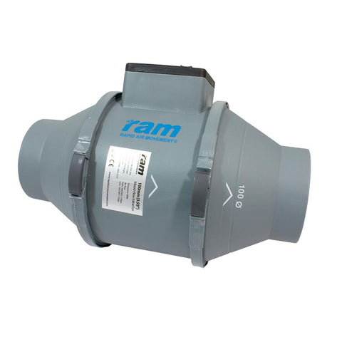 RAM MIXED-FLOW INLINE FAN 100MM - 199M³/HR