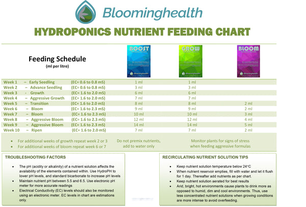 BLOOM Hydroponic Nutrient