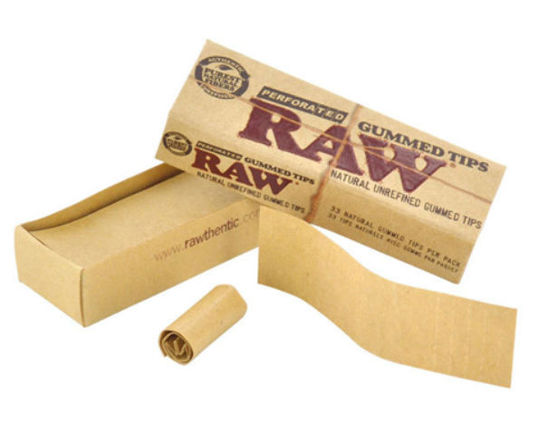 Raw Tips - Gummed Perforated