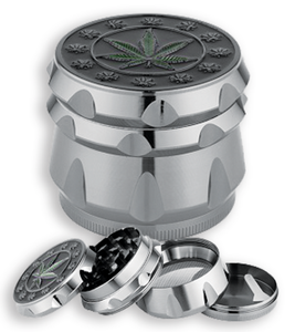 Herb Grinder - 4 Part Chambered