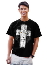 Load image into Gallery viewer, Christian T-Shirt Lion Cross