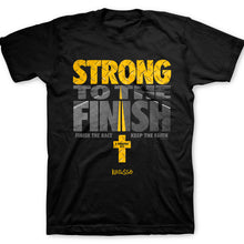 Load image into Gallery viewer, Christian T-Shirt Strong To The Finish