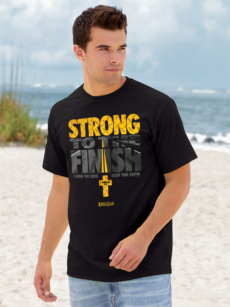 Christian T-Shirt Strong To The Finish