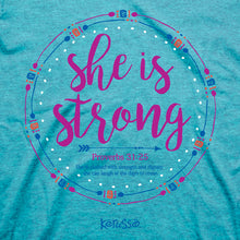 Load image into Gallery viewer, Womens T-Shirt She Is Strong