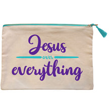 Load image into Gallery viewer, grace & truth Jesus Over Everything Zipper Bag