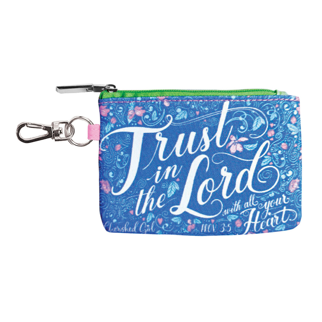 Cherished Girl Trust In The Lord Coin Purse