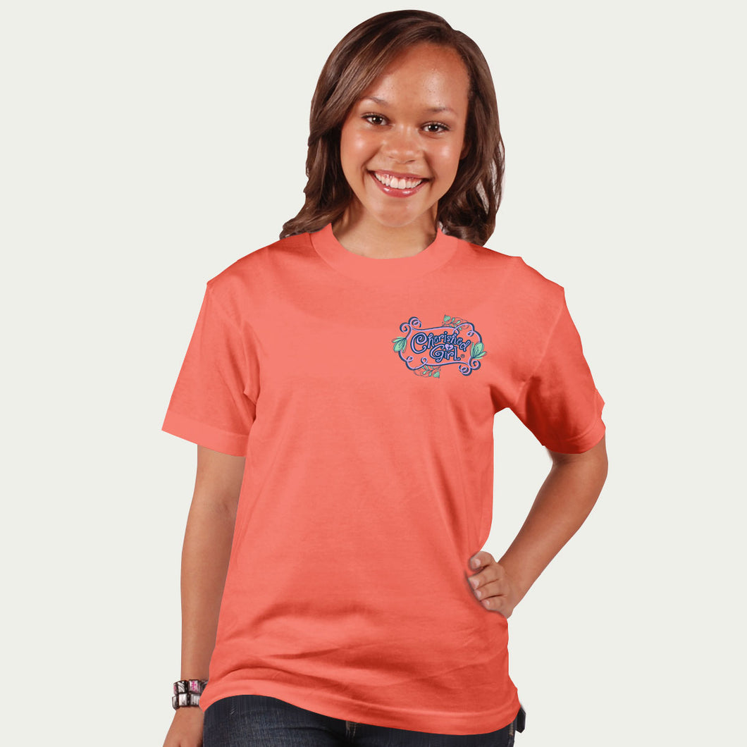 Cherished Girl Womens T-Shirt Strength & Dignity