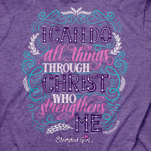 Load image into Gallery viewer, Cherished Girl Womens T-Shirt Through Christ