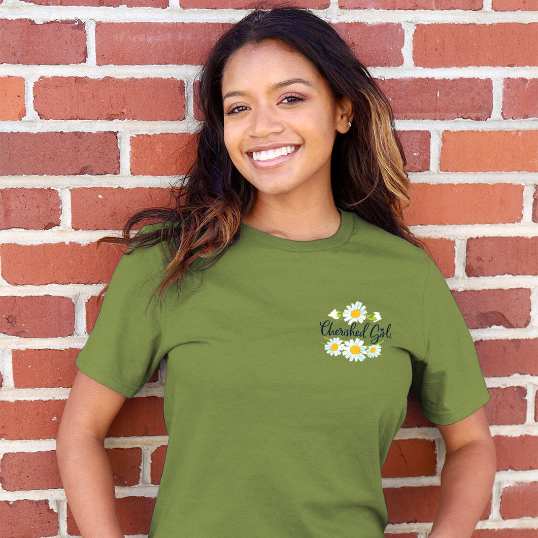 Cherished Girl Womens T-Shirt Too Many Blessings