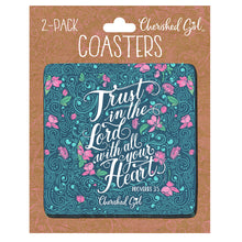 Load image into Gallery viewer, Cherished Girl Trust In The Lord Drink Coasters