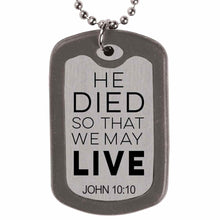 Load image into Gallery viewer, Faith Gear Savior Dogtag Necklace
