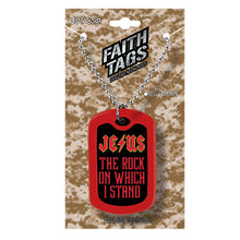 Load image into Gallery viewer, Faith Gear Jesus Rock Dogtag Necklace