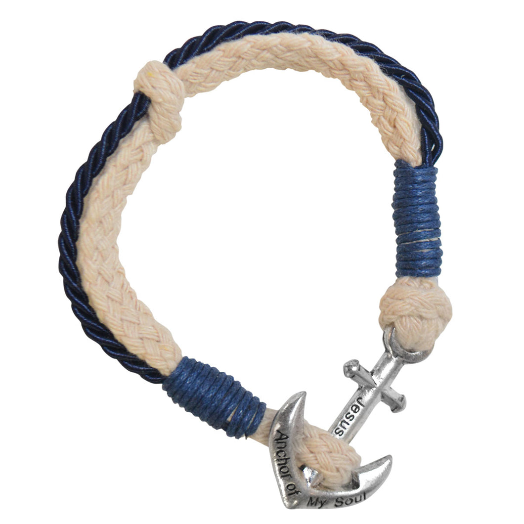 Faith Gear Anchor Womens Bracelet Navy