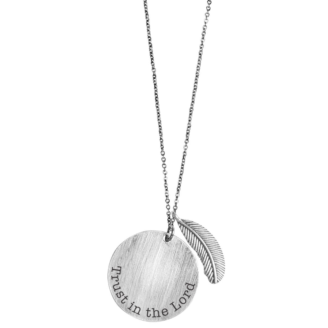 Faith Gear Circle Trust In The Lord Womens Necklace