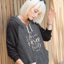 Load image into Gallery viewer, grace & truth Womens French Terry Hoody Love Never Fails