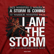 Load image into Gallery viewer, HOLD FAST Mens T-Shirt I Am The Storm