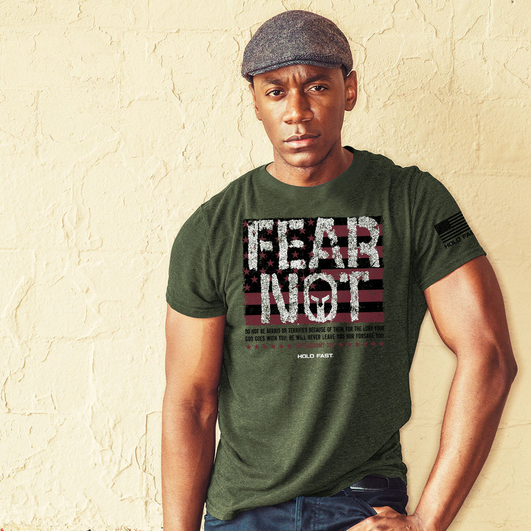 Hold Fast Mens T-Shirt Fear Not Flag