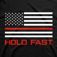 Load image into Gallery viewer, Hold Fast Mens T-Shirt Firefighter Flag